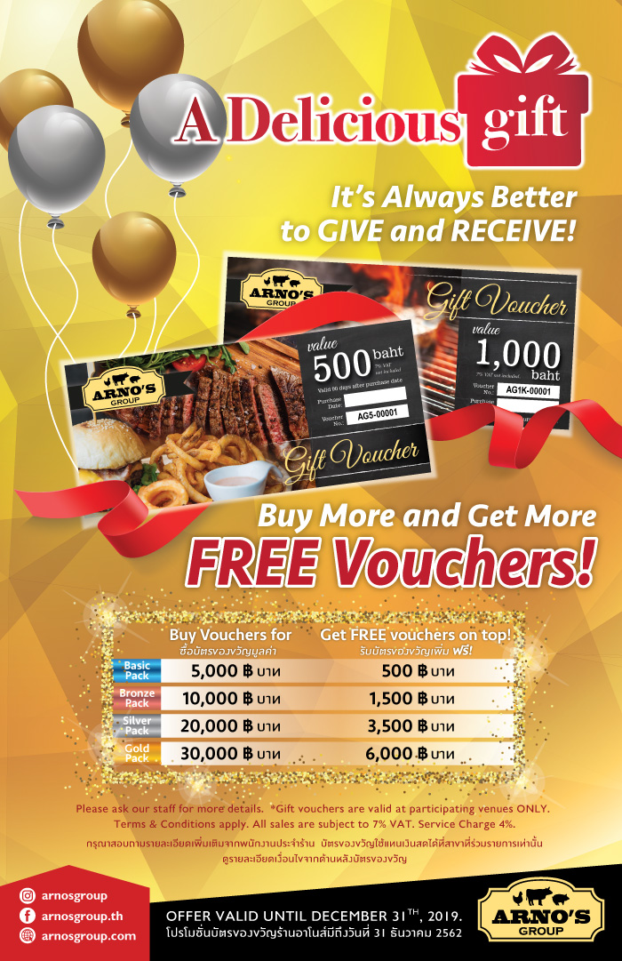Gift Voucher July 2019 Promotion