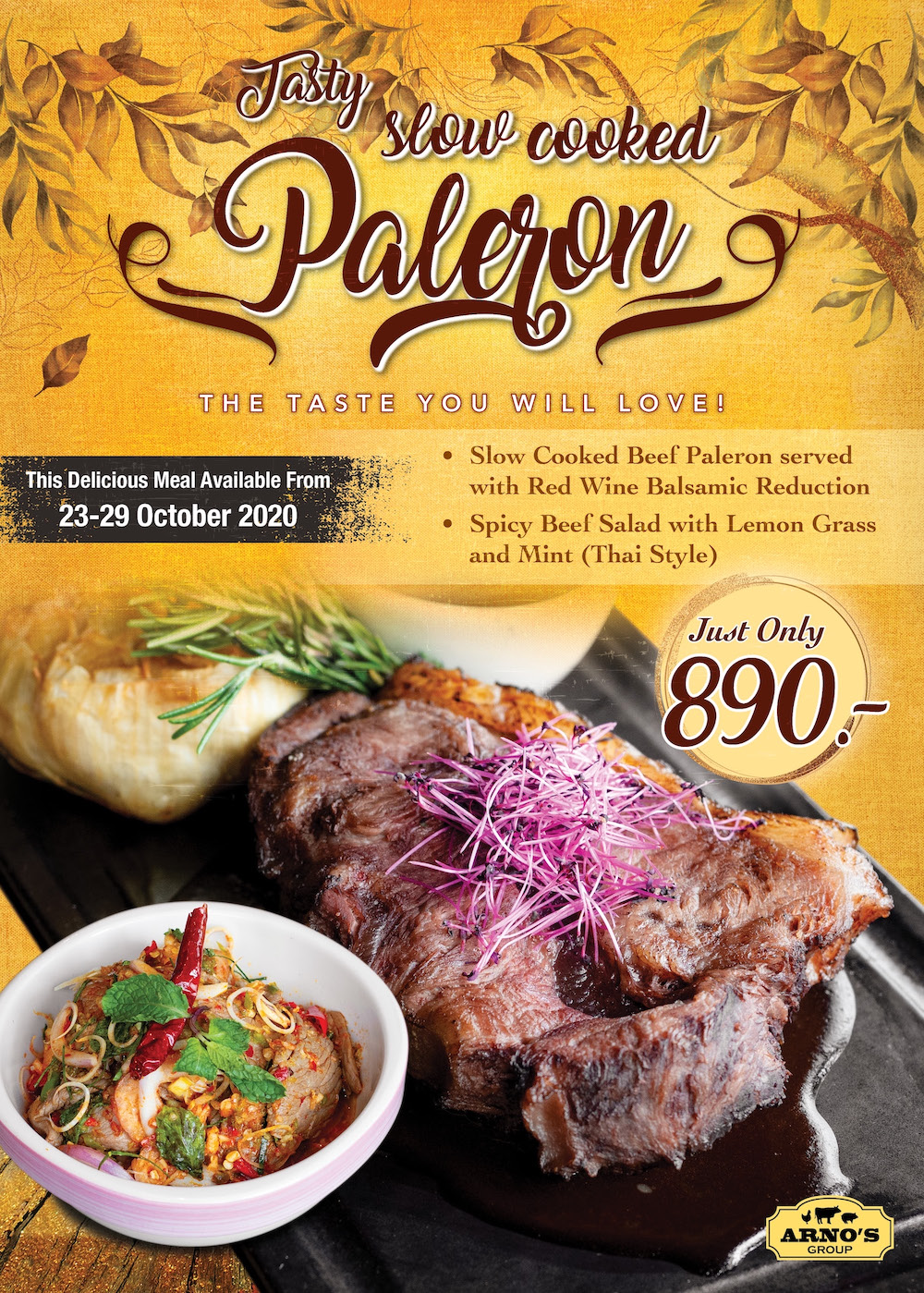Paleron Slow Cooked Promotion